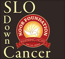SLO Down Cancer and Noor Foundation Logos