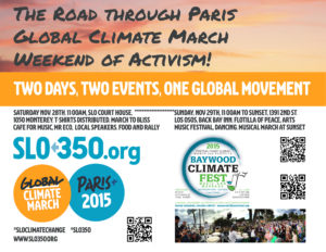 SLO350.org Climate March Flyer