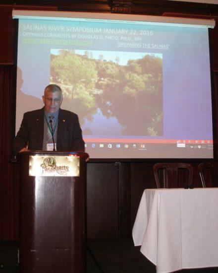 Doug Piirto Making Opening Remarks at Salinas River Symposium