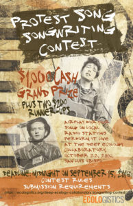 Collaboratory Protest Song songwriting contest.